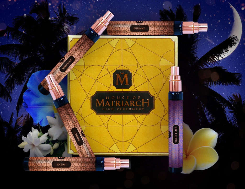 House of Matriarch - SEATTLE, WA - Natural, Organic, Vegan, Artisan & Niche High Perfumery Summer Nights Floral Quincunx with Collector's Presentation