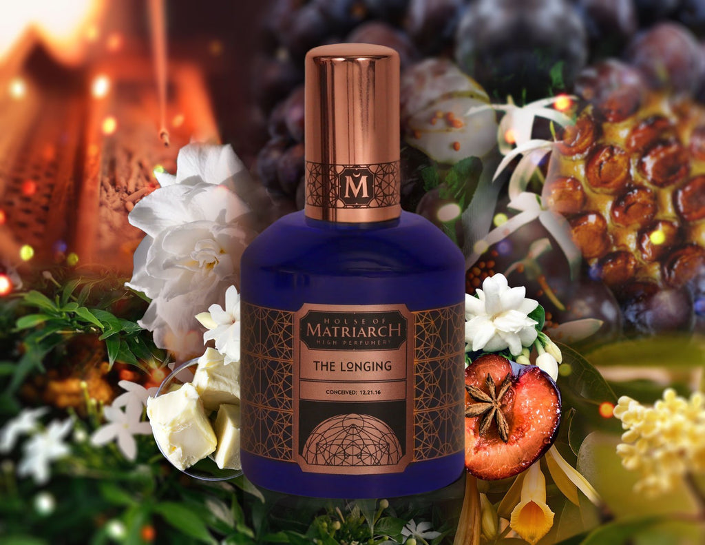 House of Matriarch - Nature is the Ultimate Luxury. High Perfumery by Christi Meshell THE LONGING  - Gourmand & white floral unisex fragrance