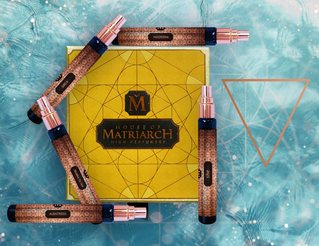 House of Matriarch - SEATTLE, WA - Natural, Organic, Vegan, Artisan & Niche High Perfumery Water Quincunx with Collector's Presentation - Elemental Quincunxes Collection