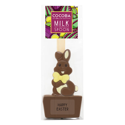 Easter Bunny Milk Hot Chocolate Spoon, wrapped