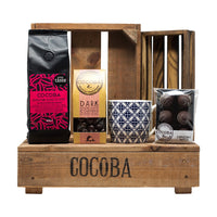 Coffee & Chocolate Gift Set (crate not included)