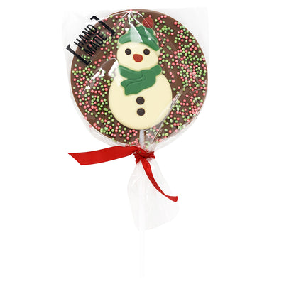 Christmas Snowman Milk Chocolate Hot Chocolate Spoon_wrapped