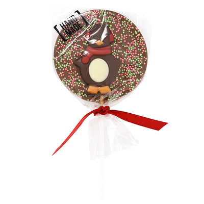 Milk Chocolate Christmas Penguin Lollipop_wrapped