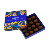 16 Cocoa Dusted Salted Toffee Truffles Gift Box_open