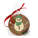 Christmas Snowman Milk Chocolate Tree Hanger_Green_wrapped