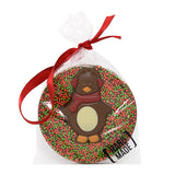 Milk Chocolate Christmas Penguin Tree Hanger_Red_wrapped