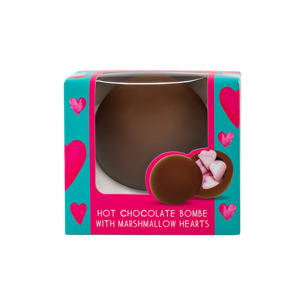 Hot Chocolate Bombe with Heart Marshmallows (single)