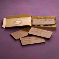 personalised engraved chocolate bar boxed