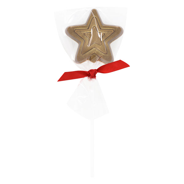 Christmas Star Milk Chocolate Lollipop_wrapped