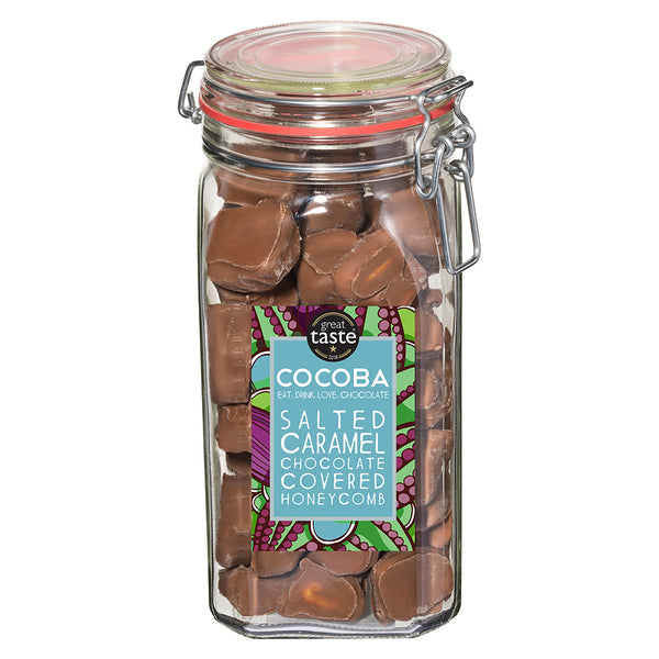 Cocoba Salted Caramel Chocolate Covered Honeycomb in Jar