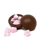 Heart Milk Chocolate Hot Chocolate Bombe_open