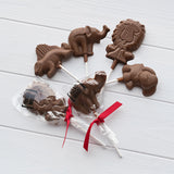 Animal Milk Chocolate Lollipops