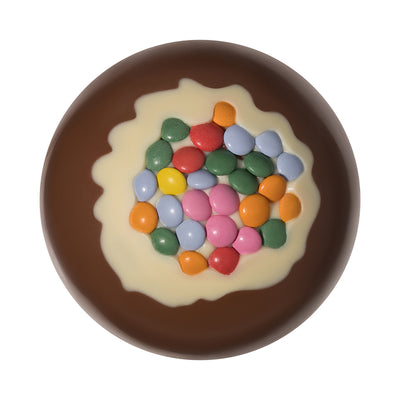 Milk Chocolate Candy Coated Christmas Bauble