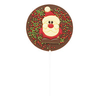Milk Chocolate Christmas Santa Lollipop