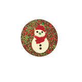 Christmas Snowman Milk Chocolate Tree Hanger_Red