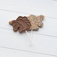 Milk Chocolate Unicorn Lollipop_front & back
