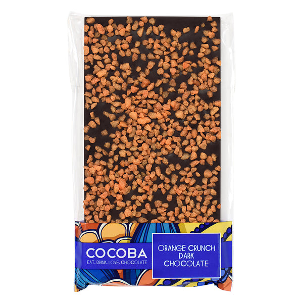 Orange Crunch Dark Chocolate Bar