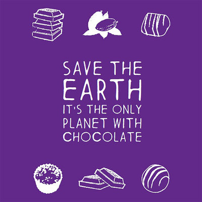 Save the earth, it's the only planet with chocolate Greeting Card