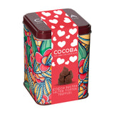 Heart Gift Tin with Cocoa Dusted Salted Toffee Truffles