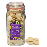 White Chocolate Buttons Jar