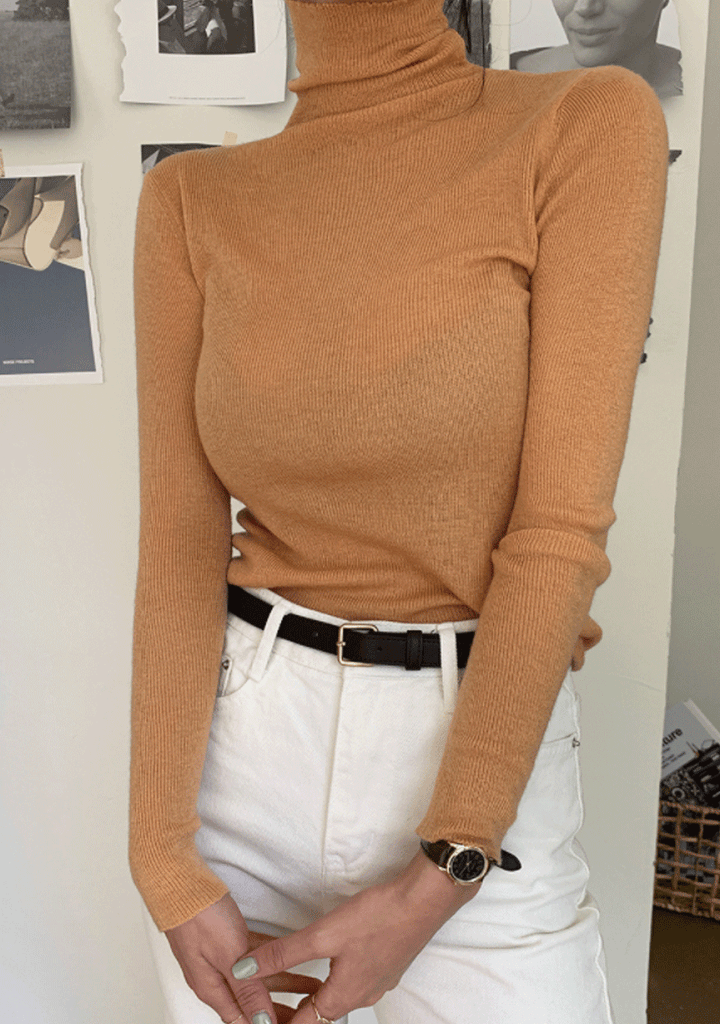 List Of Saying Soft Turtleneck Top
