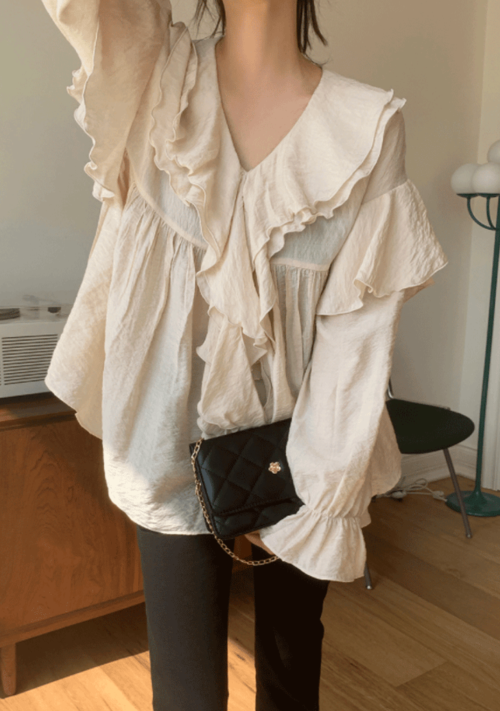Just Because Ruffle Blouse