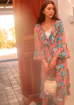 VIKINIVENDER cardigans Juicy Flower Robe