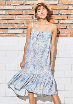 VIKINIVENDER dresses Blue Wave Midi Dress