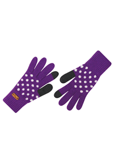 WIGGLEWIGGLE accessories Touch Screen Gloves / Dancing Dot (Purple)