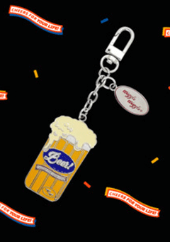 WIGGLEWIGGLE accessories Key Ring / Beer