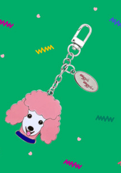 WIGGLEWIGGLE accessories Key Ring / Poodle