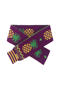 WIGGLEWIGGLE accessories Wool Scarf / Pineapple