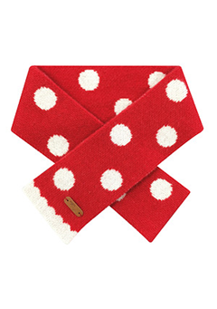 WIGGLEWIGGLE accessories Wool Scarf / Dancing Dot (Red)