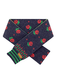 WIGGLEWIGGLE accessories Wool Scarf / Dancing Rose