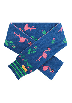 WIGGLEWIGGLE accessories Wool Scarf / Dancing Flamingo