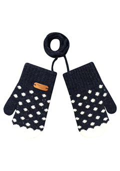 WIGGLEWIGGLE accessories Kids Gloves / Dancing Dot (Navy)