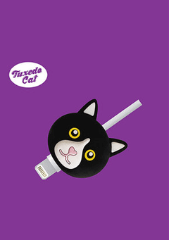 WIGGLEWIGGLE accessories Cable Protector - Tuxedo Cat