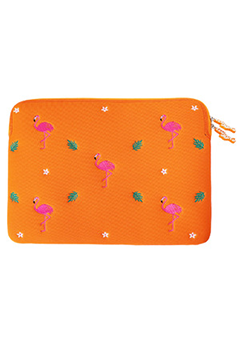 WIGGLEWIGGLE accessories Laptop Sleeve / Dancing Flamingo