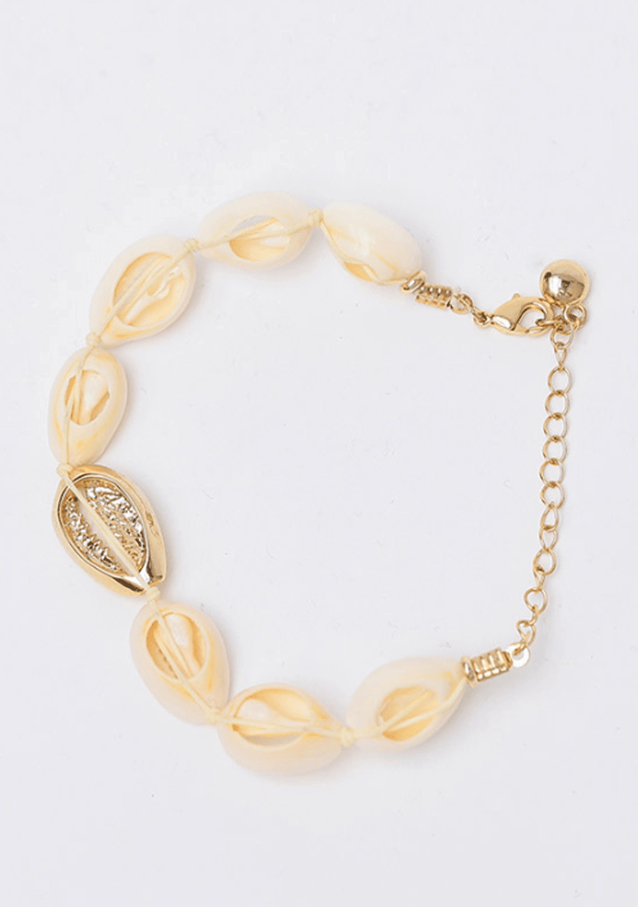 Shells Full Of Gold Bracelet