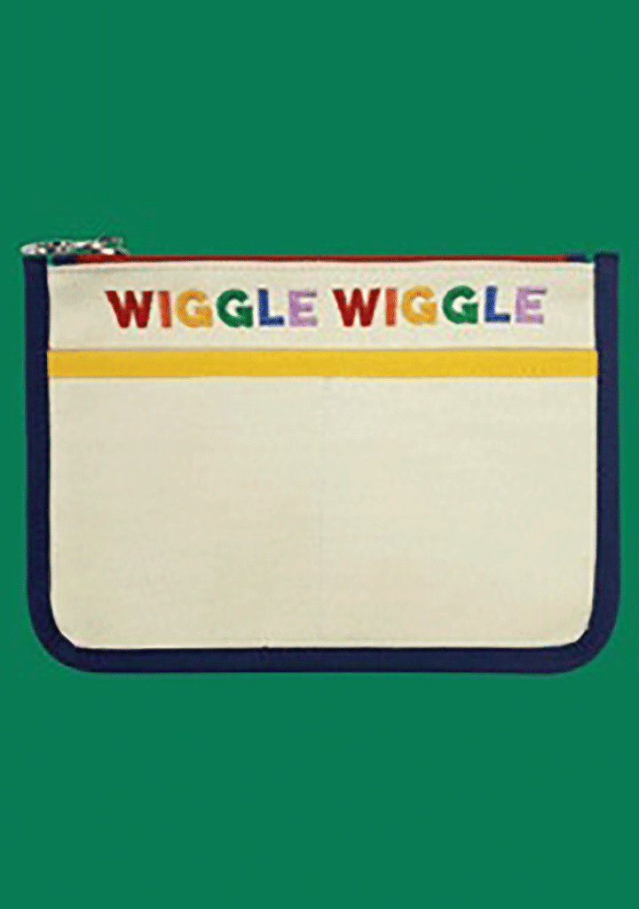 WIGGLEWIGGLE bags Canvas Pouch - Rainbow Ivory