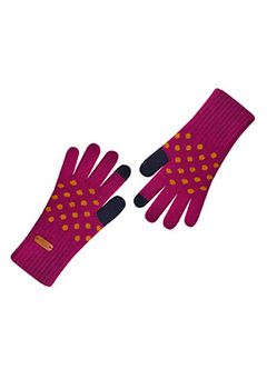 WIGGLEWIGGLE accessories Touch Screen Gloves / Dancing Dot (Violet)