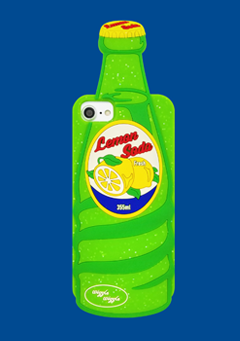 WIGGLEWIGGLE accessories Funky Case / Lemon Soda