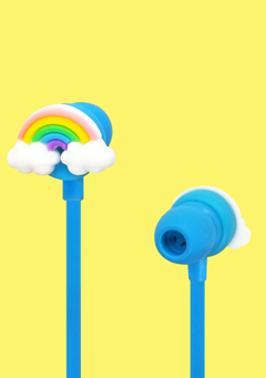 WIGGLEWIGGLE accessories Funky Earphone / Rainbow