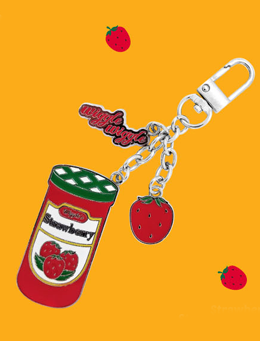 WIGGLEWIGGLE accessories Key Ring - Strawberry Jam