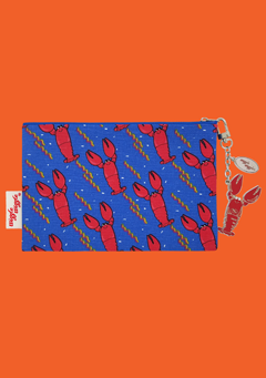 WIGGLEWIGGLE bags Pouch(M) / Lobster