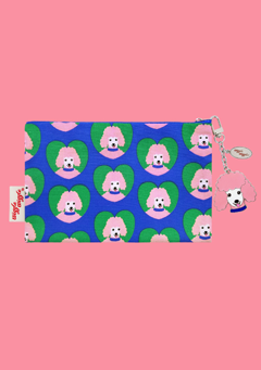 WIGGLEWIGGLE bags Pouch(M) / Poodle