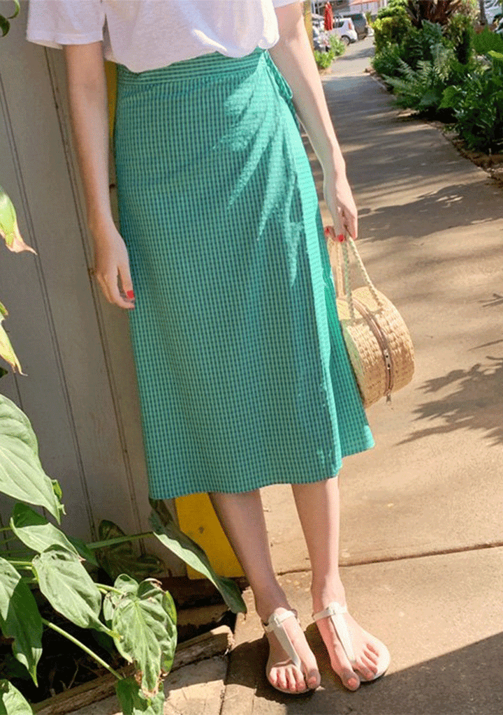 CHERRYKOKO skirts Ninety-Nine Days Wrapped Skirt