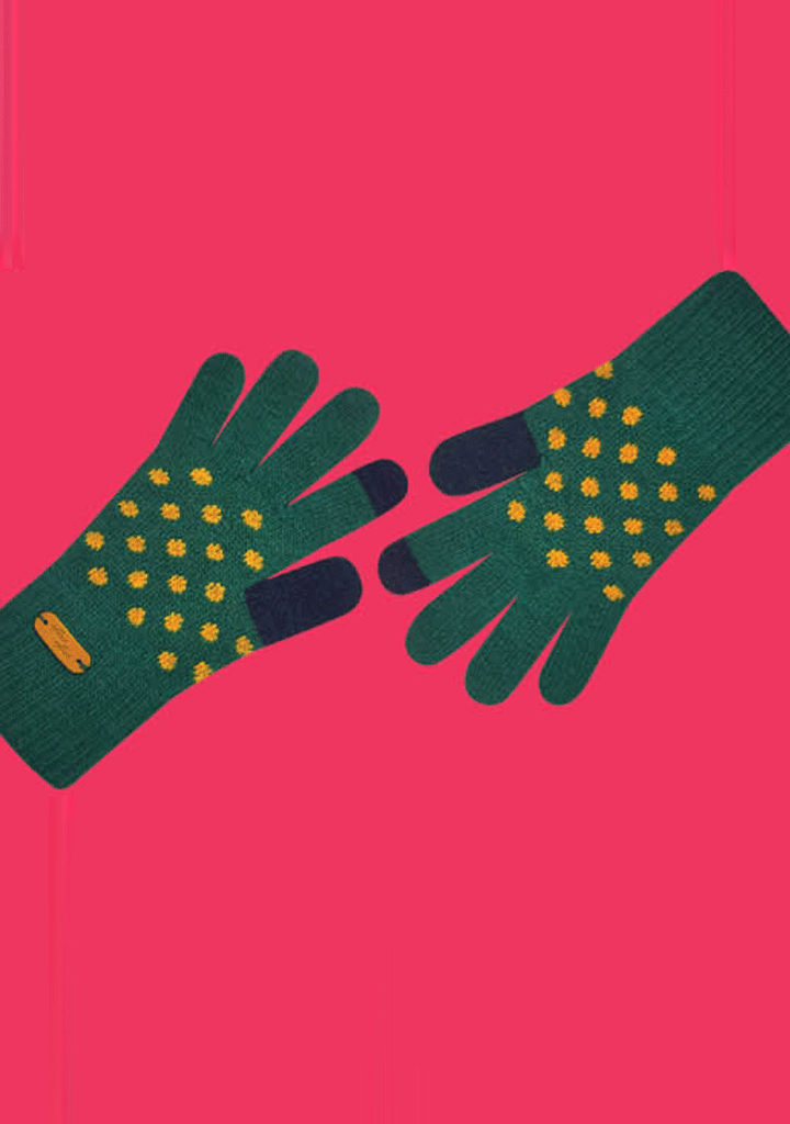 WIGGLEWIGGLE accessories Touch Screen Gloves -Dancing Dot (Gr)
