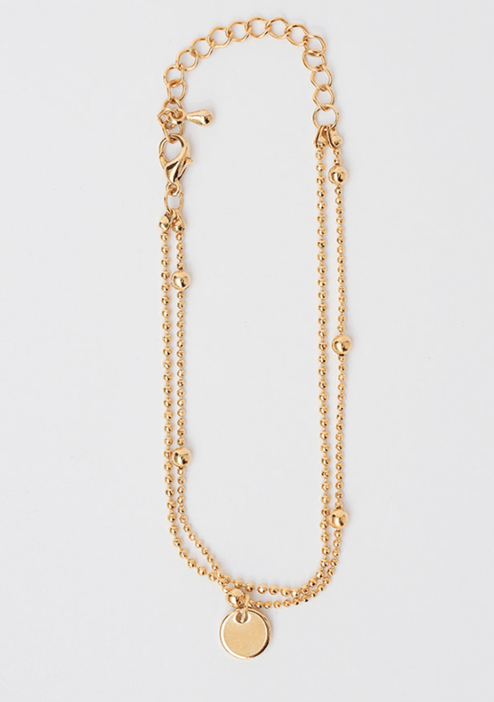 CHUU jewelry Simply Gold Double Chain Bracelet