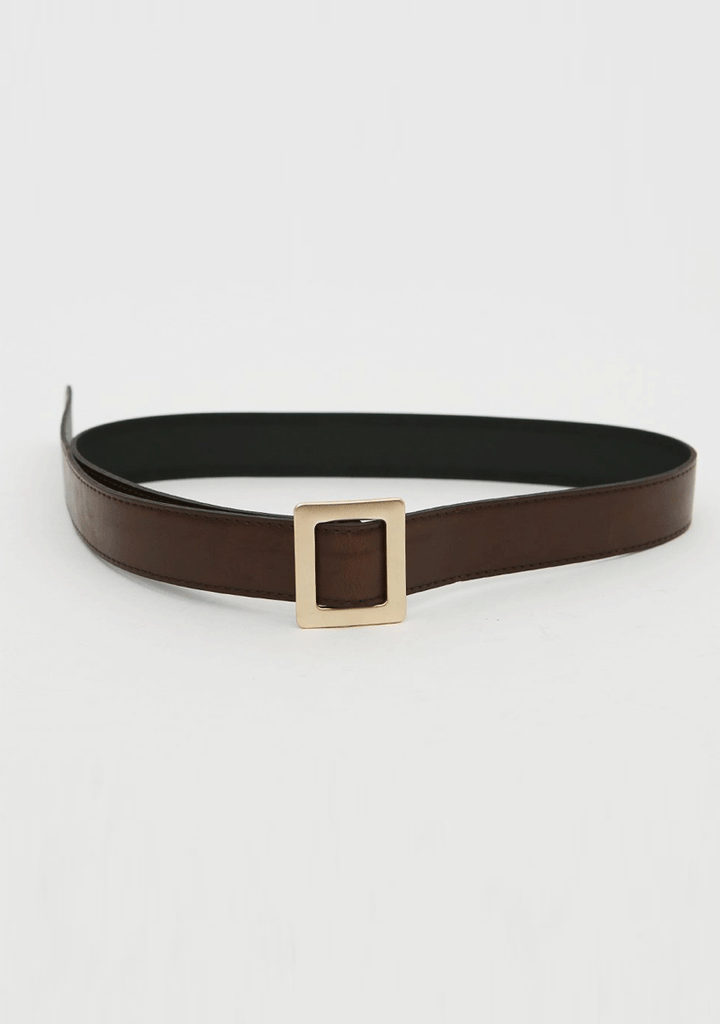 DABAGIRL accessories Metal Square Buckle Belt